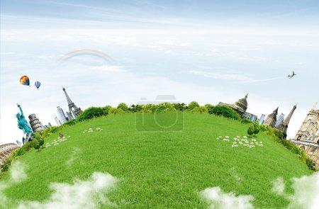 Planet. travel concept