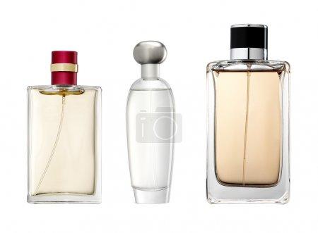 Photo pour Photo studio de bouteille de parfum de luxe. isolé sur fond blanc - image libre de droit