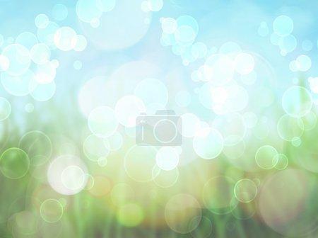 Foto de Fondo de primavera con fondo efecto brokeh - Imagen libre de derechos