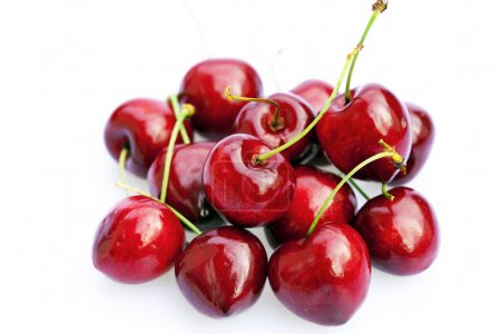 Cherries isolated on white