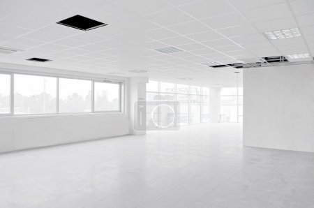 Empty interior white office