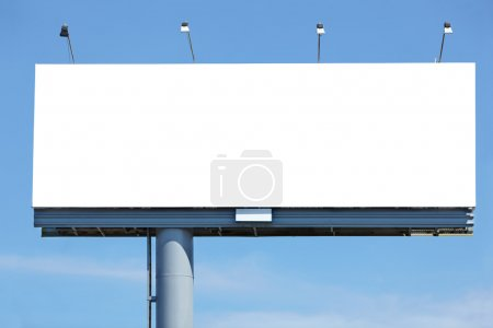 Photo for Huge blank billboard against blue sky for your design - Royalty Free Image