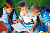 Elementary students reading