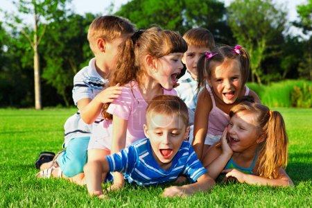 Preschool friends playing