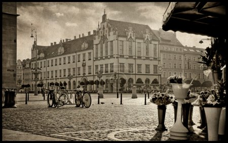 Photo for City view stylized as an old photo - Royalty Free Image