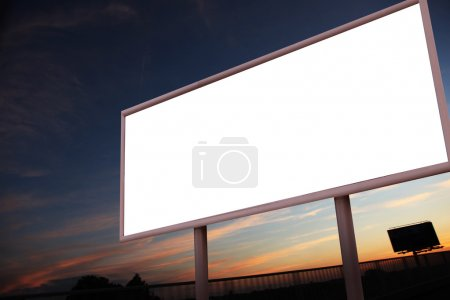 Photo for Blank billboard over city background - Royalty Free Image