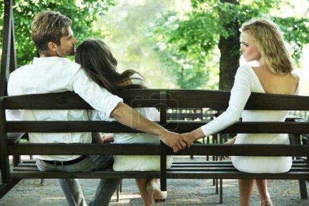 Conceptual photo of a marital infidelity