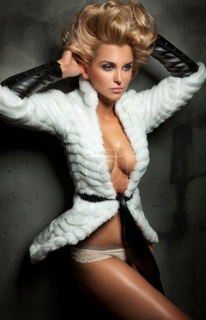 Sexy blond lady posing