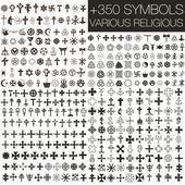 """Постер, картина, фотообои """"350. различные религиозные символы"""""""