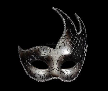 Silver classic venetian mask on black