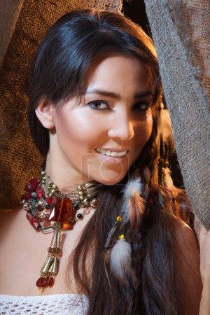 Smiling American Indian female