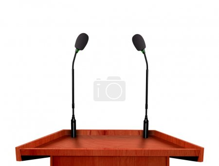 Photo for Podium and microphone - Royalty Free Image