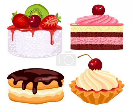 Collection of beautiful cakes