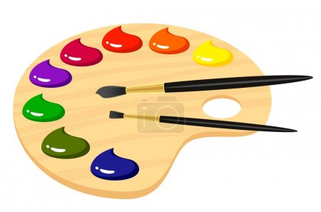 Illustration for Palette with paints - Royalty Free Image
