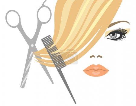 Illustration pour Coupe de cheveux - image libre de droit