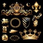 Heraldic royal set, this illustration may be usefu...