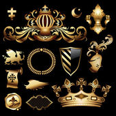Heraldic royal set this illustration may be useful as designer work