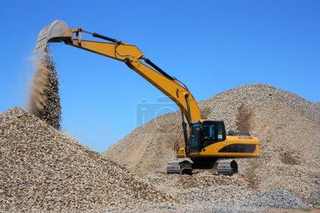 Dredge loads a rubble
