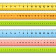 The six color rulers. Vector illustration...