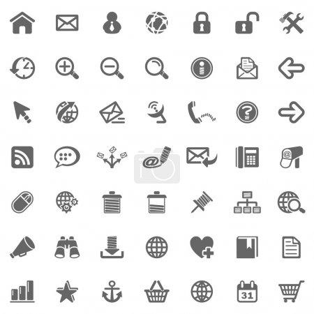Photo pour 49 icônes utiles de site Web et Internet sur fond blanc - image libre de droit