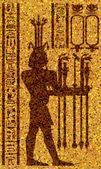 """Постер, картина, фотообои """"египетские иероглифы и фреска"""""""