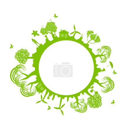Illustration for Environment banner - ecology concept - Royalty Free Image