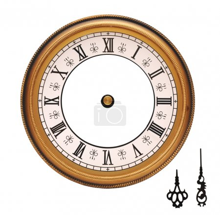Photo for Vintage wall clock isolated on white background - Royalty Free Image