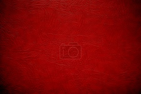 Photo for Closeup red leather texture to backround - Royalty Free Image