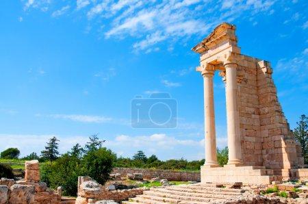 Photo pour Ruines du sanctuaire d'Apollon hylates - place de principaux centres religieux de Chypre antique et un des touristiques plus populaires - image libre de droit