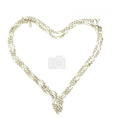 Charm bracelet in heart shape with heart shaped