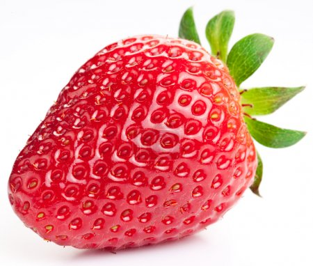 Photo for Appetizing strawberry. Isolated on a white background. - Royalty Free Image