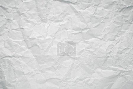 Photo pour Texture froissée de papier de bureau blanc . - image libre de droit