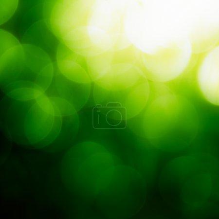 Photo pour Carré vert fond Bokeh . - image libre de droit