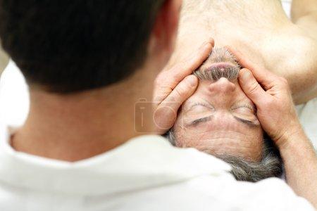 male face massage