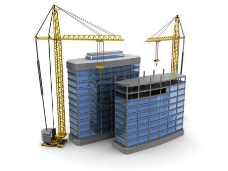 Foto de Ilustración 3d abstracto de la construcción de edificios modernos - Imagen libre de derechos