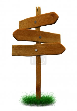 Signe de déirection en bois