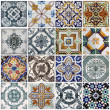 Traditional tiles on old house in Lisbon, Portugal...