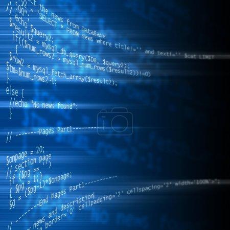 Photo pour Code de programmation langage php sur bleu - image libre de droit