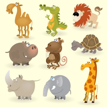 Wild animals set (Animals of Africa)
