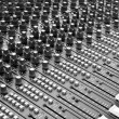 Detail of a soundboard mixer electronic device...