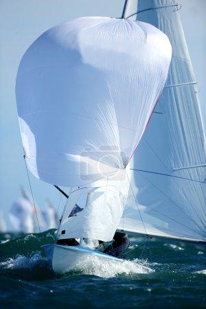 Sailboat on ocean water