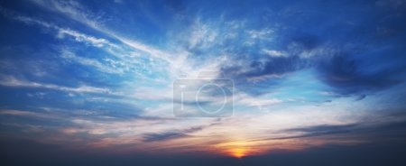 Photo for Sky at sunset time. Panoramic shot. - Royalty Free Image