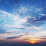 Sky at sunset time. Panoramic shot....
