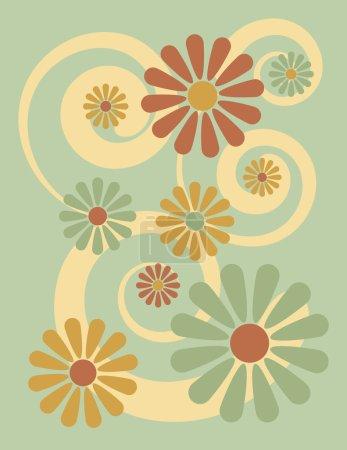 Flower Background in Green