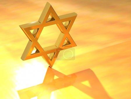 Star of David Gold Sign