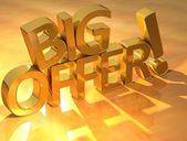 3D Big Offer Text
