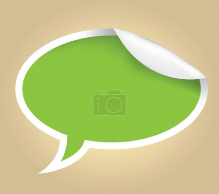 Illustration for Vector illustration of a speech bubble - Royalty Free Image