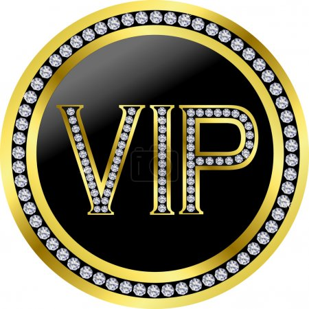 Vip with diamonds, vector