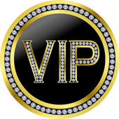 Vip with diamonds vector