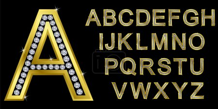 Illustration for Golden alphabet, letters from A to Z - Royalty Free Image
